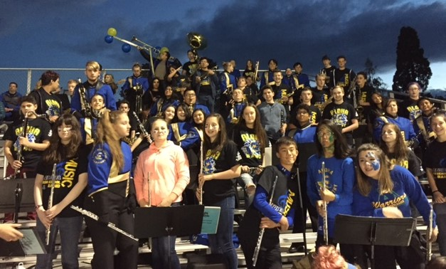 pep band with 8th grade